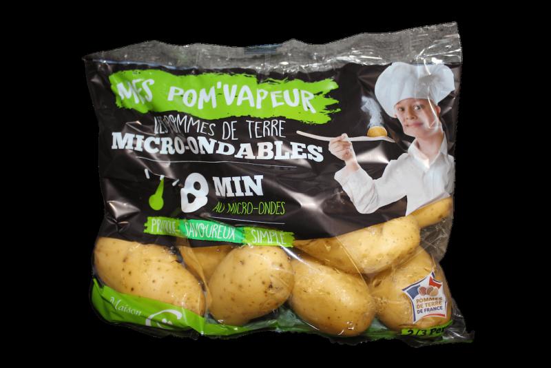 Packaging de pommes de terre micor ondable