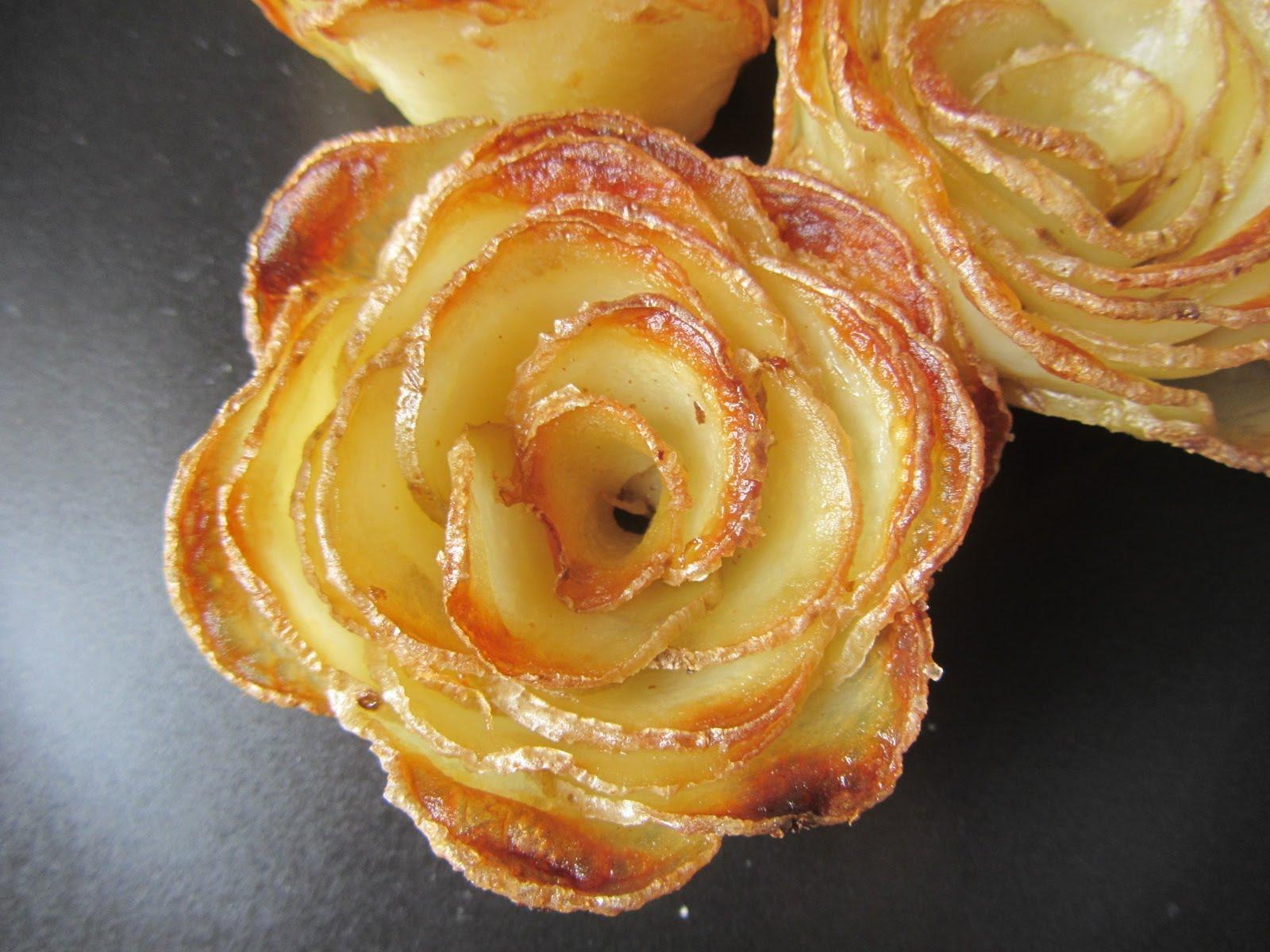 Roses en pommes de terre …. pour un WE pluvieux !