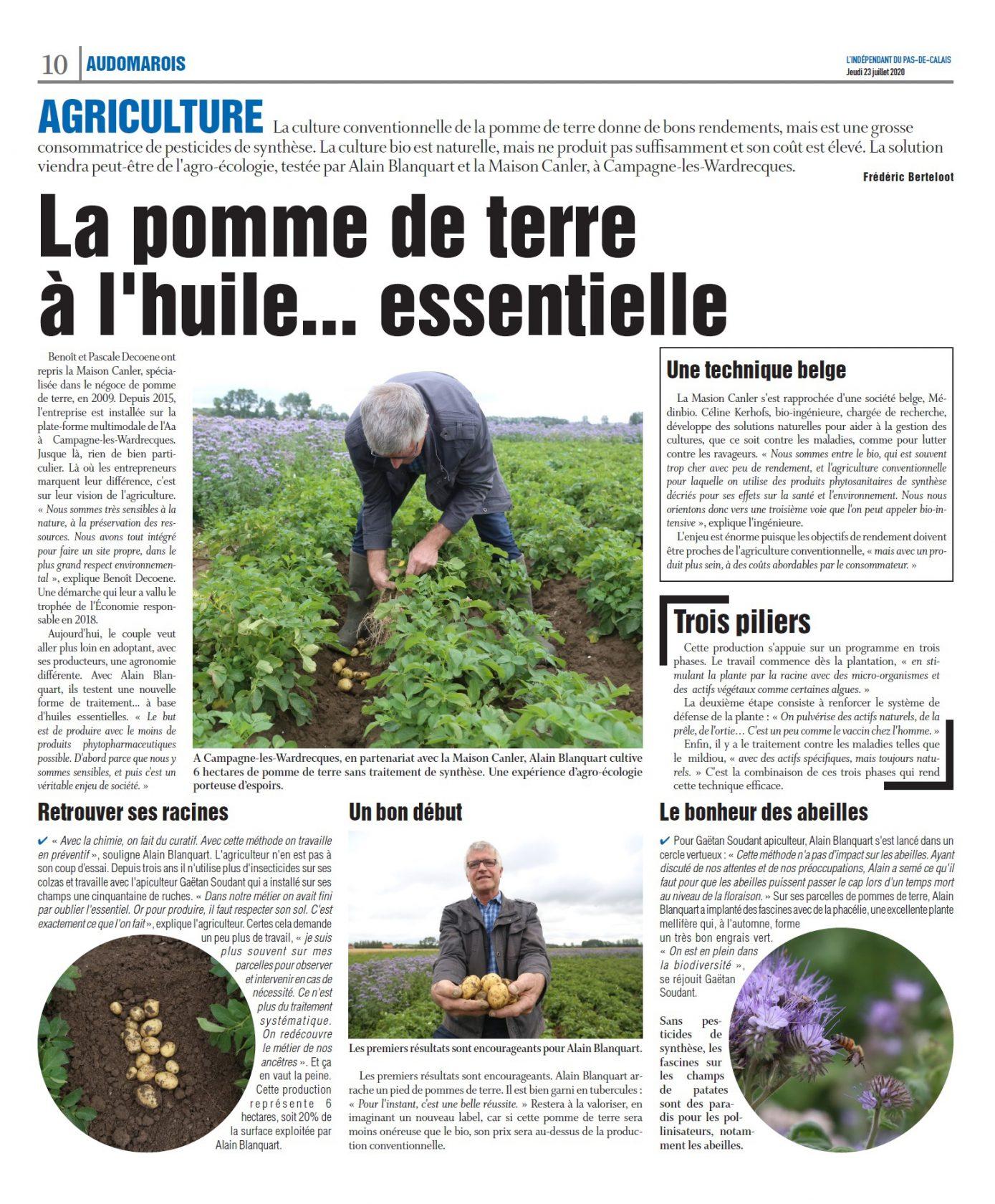 Essai agro-écologique prometteur dans le Nord